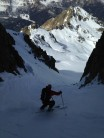 Steep gully off Cima d'Asta. Lagorai range. Italy
