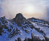 Oil Painting - 'The Rock Castles of Glyder Fawr'