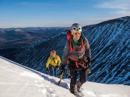 Tower ridge in glorious alpine conditions