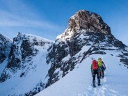 Approaching the eastern traverse