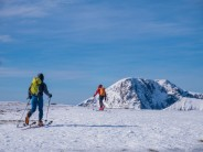 Taking in the sun and scenary on the top of Aonach Mor. The Ben's North Face in the background.