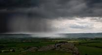 Cloud Burst approaching Almscliff