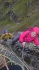Hayley & Tara drying out on the top of Slabs Route 1. Onward to Pavey!