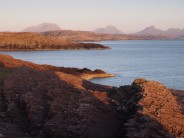 Evening view of Canisp and Suilven in Assynt, NW Highlands