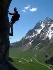 Phil Sneyd on Via ferrata Yves Pollet-Villard near La Clusaz