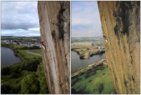 A homage to an iconic shot and climber. Niall & Cubby 34 years apart.