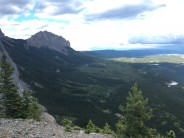 The view of Yamnuska from the top of 'Beautiful Century'.