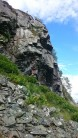 General view of the crag from the top of the scree.