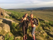 Climbing sisters after a 10 hour day at Stanage