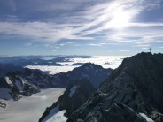 Barre des Ecrins summit cross