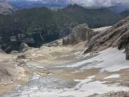 Marmolada West Ridge Via Ferrata approach Glacier