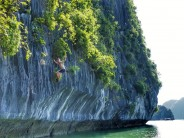 Deep water soloing in Vietnam