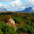Canisp  and Suilven from Glen Canisp carpark