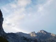 Skuta (right), Struca (mid/right) & Bivak Pavla Kemperla (very left) in the Kamnik Alps.