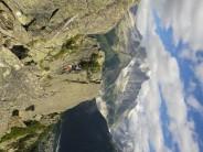 climbers crossing himalayan bridge on via des evettes