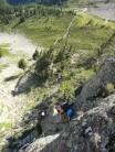 climbers enjoying via des evettes
