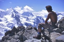 Wonderful views from the summit of La Besso, Switzerland