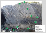 Warwick Climbing Club at Initiation Slabs - Route Layout by TwofoZeus