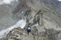 Ed Hastrop on the Cresta Rey ridge near the summit of Punta Cian