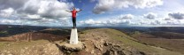 On top of the World or Sugar Loaf with first welsh vest above Abergavenny by prouddad.