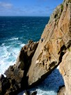 Diamond Solitaire (VS4c), Flying Buttress Main Cliff, Lundy