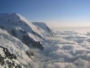 Cloud inversion High above Chamonix