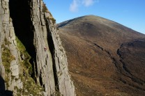 A Mournes classic, Parallel Lines (HVS 5a) at the Devil's Coachroad.