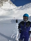 Off piste in Les Arcs. check the tracks.