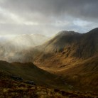 Weather fronts sweeping over Gleann Dubh Lighe