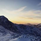 Sunset behind nam beith
