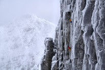Guy Robertson and Greg Boswell on the third pitch of their new winter line on Bidean nam Bian