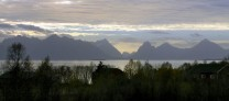 Another view of Lofoten from Vesteralen just before winter