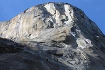 A couple of climbers descending El Cap!