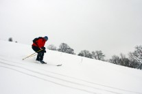 Skiing in the Black Mountains, Herefordshire