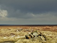 dramatic light over High Stones looking back towards Sheffield