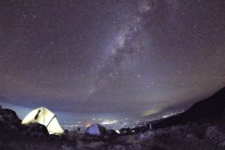 The Milky Way when viewed from 4800 meters on Kilimanjaro.