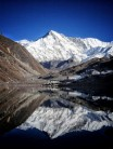A lovely shot of Cho Oyu at 8188m is the 6th highest mountain the world. This photo is taken from Goyko lake at 5000m.