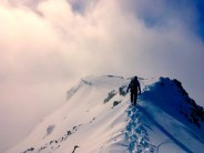 Walking off the Buachaille after our last winter climb of the season