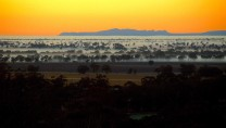 Sunrise and The Grampians from Arapiles.