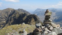 Aonach Eagach ridge looking east