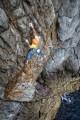 James Taylor and Tom Livingstone on Dinosaur E5 Main Cliff Gogarth<br>© Nadir khan