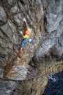 James Taylor and Tom Livingstone on Dinosaur E5 Main Cliff Gogarth