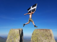 The Flying Cornish Man on Classic Rock Tour of the UK! Only way to finish Pinnacle Rib!