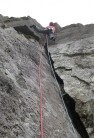 """Graham Stein climbing Pitch 3 of Electron """"with bravado"""""""
