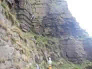 Jon climbing Great Slab