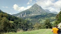Big peak overlooking Ramales de la Victoria, Cantabria.