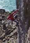Proof that Kris enjoys trad climbing