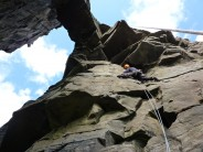 Ain't no strange as folk E2 5b, False Stack Area, Yesnaby. Second ascent thinking it was the first.