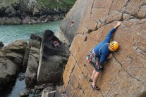 Red Wall Right-Hand (HS) at Porthclais - Not the jug he was hoping for!