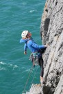 Relishing the position on the last few moves of 'Sea Mist' (HS) at Saddle Head